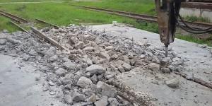 Демонтаж рельсовых путей