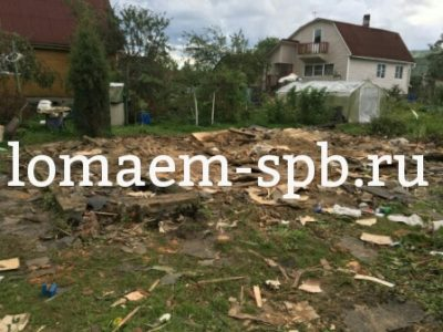 демонтаж деревянного дома с вывозом мусора