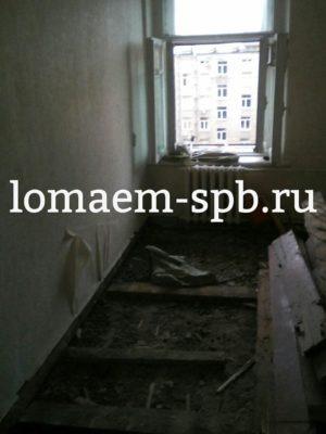 стоимость демонтажа деревянного пола в квартире