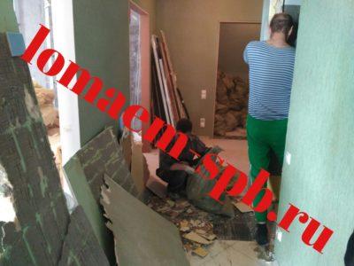 снос стен из гипса цена с выносом