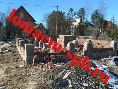 демонтирование старого фундамента