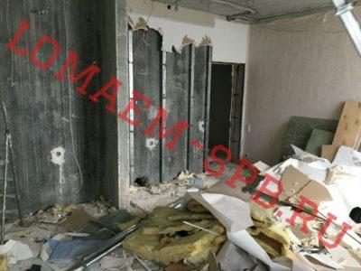 демонтаж гипсолитовой стены