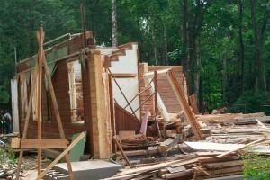 Демонтаж щитового домика