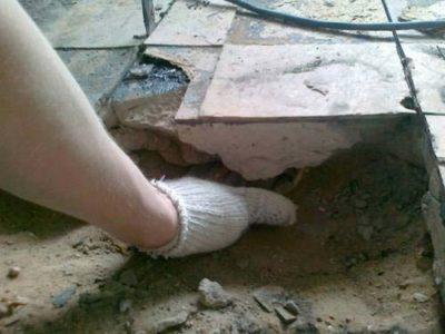 демонтаж цементно-песчаной стяжки