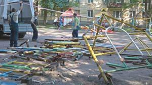 Демонтаж детской площадки