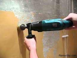 Демонтаж краски со стен