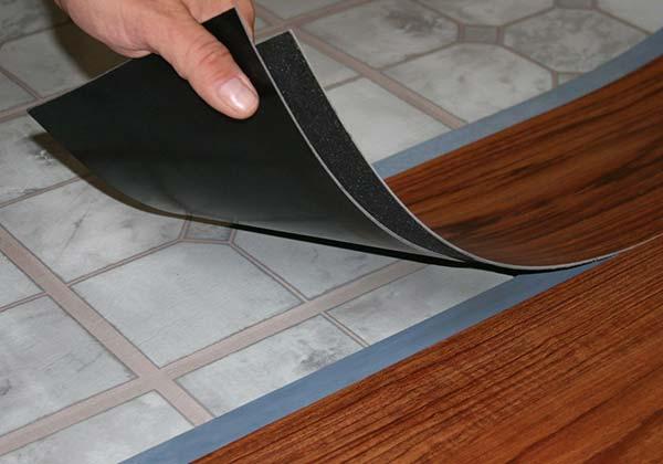 демонтаж кварц-виниловой ПВХ плитки