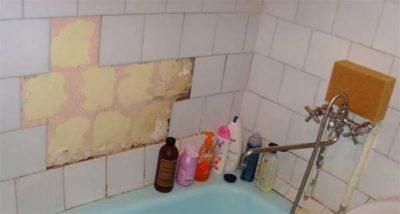Демонтаж плитки в ванной