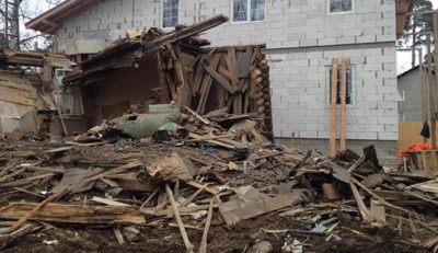 Демонтаж старого дома