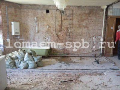 Демонтаж однокомнатной квартиры
